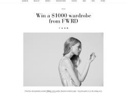 Win a $1000 wardrobe from FWRD