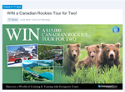 Win a $15,000 Canadian Rockies Tour for 2!