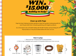 Win a $15,000 Holiday to Italy!
