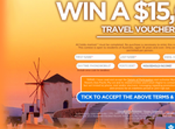 Win a $15,000 travel voucher!