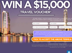 Win a $15,000 Travel Voucher