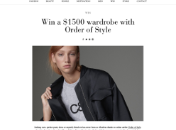 Win a $1500 wardrobe with Order of Style