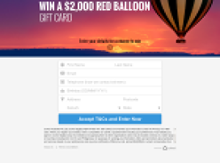 Win a $2,000 Red Balloon Gift Card