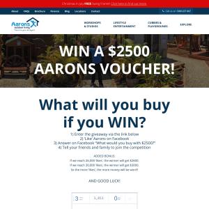 Win A 2500 Aarons Voucher