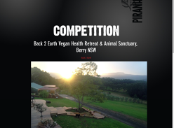 Win a 2 Nights Weekend for 2 @ Back to Earth Vegan Health Retreat & Animal Sanctuary Berry, NSW in a Luxuriously Rustic Loft