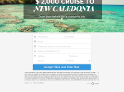 Win a $2000 Cruise to New Caledonia