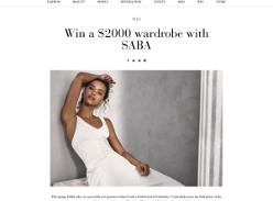 Win a $2000 wardrobe with Saba
