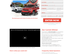 Win a $250,000 Jeep Grand Cherokee Prize Pack