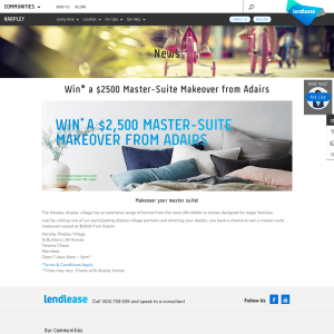 Win a $2500 Master-Suite Makeover from Adairs