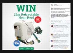Win a 25m Retractable Reel, a Super Jet Washer & a 9 Pattern Sprinkler!