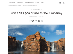 Win a $27,900 cruise to the Kimberley!