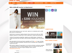 Win a $300 glam corner voucher