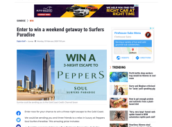 Win a 3N Stay at Peppers Soul Surfers Paradise for 4