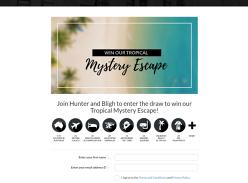 Win a $4,000 Mystery Tropical Getaway