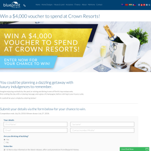 Blueprint homes win a 4000 voucher to spend at crown resorts blueprint homes win a 4000 voucher to spend at crown resorts competitions malvernweather Image collections