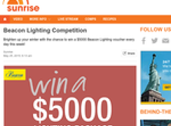 Win a $5,000 Beacon Lighting voucher every day this week!