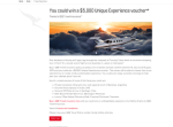 Win a $5,000 'Unique Experience' voucher!