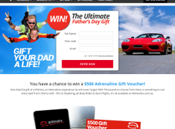 Win a $500 Adrenaline Gift Voucher