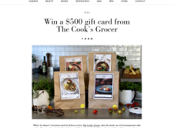 Win a $500 gift card from The Cook's Grocer