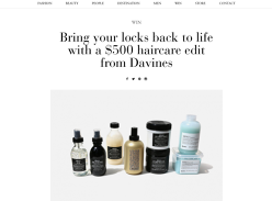 Win a $500 gift card to spend with Davines!