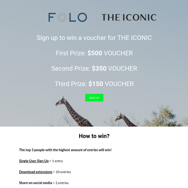 Win a $500 Iconic Voucher or Other Prizes