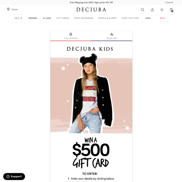 Win a $500 Kids Clothing Voucher