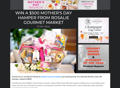 Win a $500 Mother's Day Hamper from Rosalie Gourmet Market