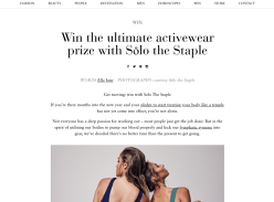 Win a $500 Solo the Staple activewear gift card!