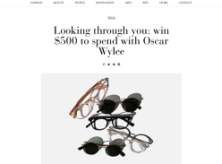 Win a $500 Sunglasses Voucher