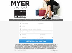Win a $5000 MYER Gift Card