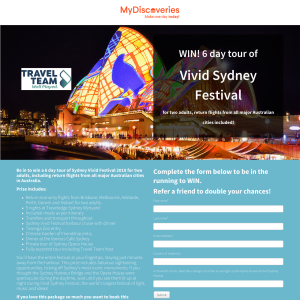 Win a 6 day tour of Sydney Vivid Festival 2018 for two adults