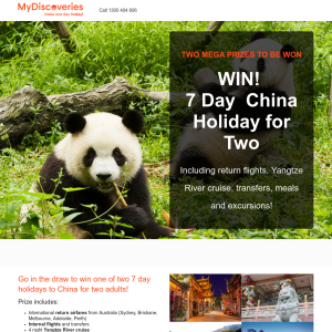 Win a 7 Day China Holiday for Two