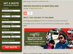 Win a 7 day snow holiday in New Zealand!