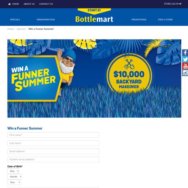 BottleMart - Win a Backyard Makeover + Lots More ...