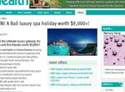 Win a Bali luxury spa holiday worth $9,000+!