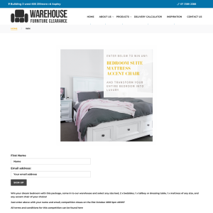 Warehouse Furniture Clearance Win A Bedroom Suite Mattress Accent