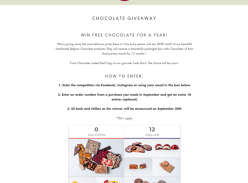Win a Belgian Chocolate Pack