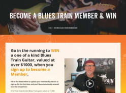 Win a Blues Train Guitar Over