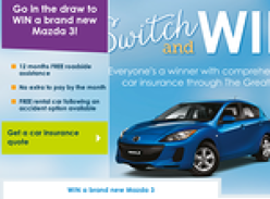 Win a brand new Mazda 3 Neo!