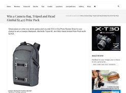 Win a Camera Bag, Tripod and Head Gimbal