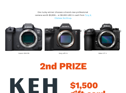Win a Camera or Cash