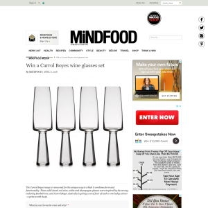 Win a Carrol Boyes wine glasses set