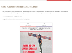 Win a Carton of Pabst Blue Ribbon