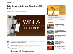 Win a Ceder & Stone Luxe Gift Pack!