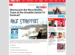 Win a chance to join the Nova Brekky Team at the Straddie Salute Tri Festival
