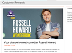 Win a chance to meet comedian Russell Howard