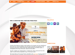 Win a Christian Paul Watch Prize Pack