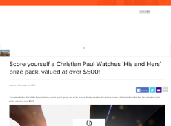 Win a Christian Paul Watches 'His and Hers' Prize Pack