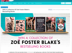 Win a collection of Zoe Foster Blake's bestselling books!