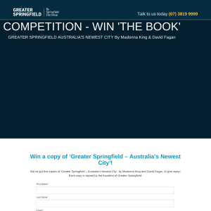 Win a copy of 'Greater Springfield – Australia's Newest City'